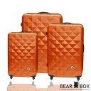 BEAR BOX晶鑽系列ABS霧面超值三件組旅行箱/行李箱 - 限時優惠好康折扣
