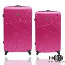 Just Beetle世界地圖系列超值兩件組28吋+24吋輕硬殼旅行箱/行李箱 0