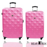 Bear Box 時尚香奈兒系列霧面24吋+20吋旅行箱/行李箱 0