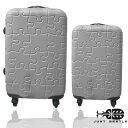 JUST BEETLE拼圖系列超值兩件組28吋+20吋輕硬殼旅行箱/行李箱 0