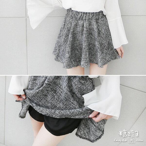 ★原價450下殺199★糖罐子混色縮腰毛呢褲裙→預購【KK4946】 1