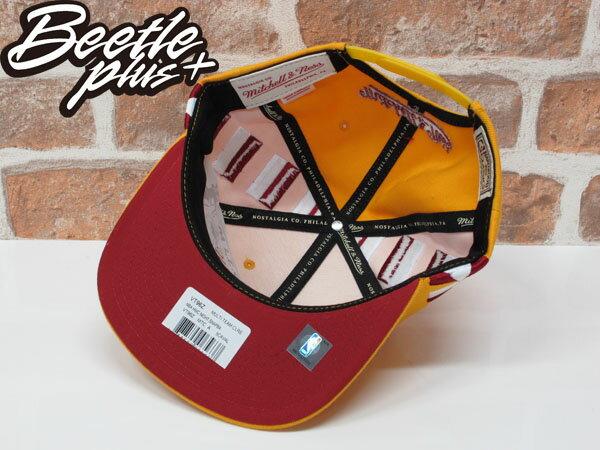 BEETLE MITCHELL&NESS NBA 克里夫蘭 騎士 黃紅 條紋 後扣 棒球帽 SNAPBACK MN-370 2