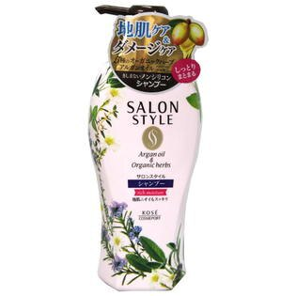 KOSE Salonstyle植物精油洗髮精-保濕型500ml