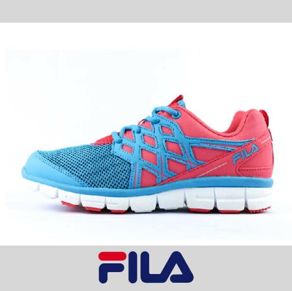 萬特戶外運動 FILA 5-J902P-363 女運動鞋 舒適 透氣 特價 藍粉色