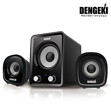 【迪特軍3C】電擊DENGEKI2.1聲道USB多媒體喇叭 冷光電源指示 高音質 重低音與音量控制 0