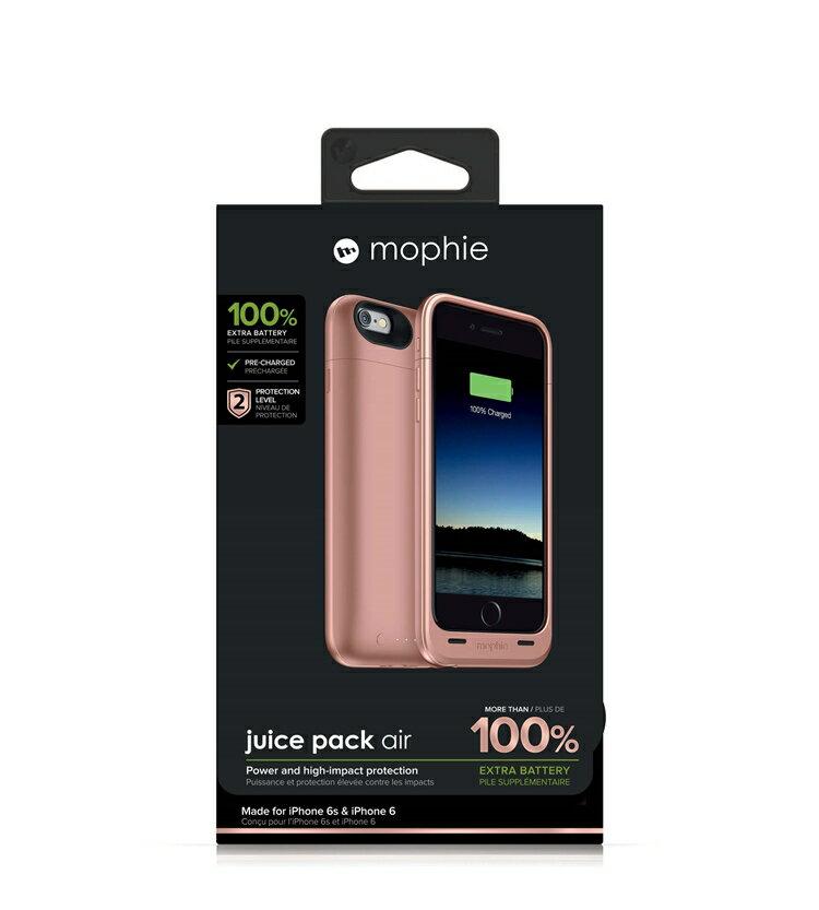 【迪特軍3C】mophie Juice Pack Air for iPhone 6/6S 背蓋電源(玫瑰金) 2