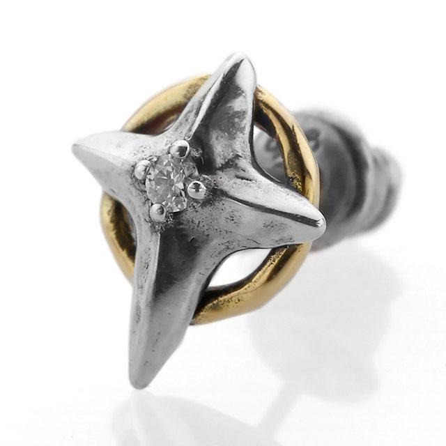 【海外訂購】【Bloody Mary】Cristallum 結晶十字鑽石18K金耳環(BME1363-sk-D  0832640000) 0