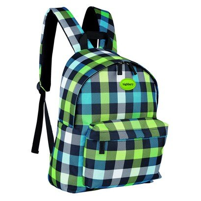 Highbury Backpack (green box print) 0