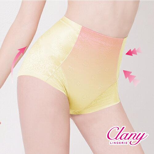 【可蘭霓Clany】高腰無痕透氣緹花M-2XL三角提臀褲  高雅紅 1907-32 1