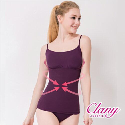 【可蘭霓Clany】細肩帶輕機能平腹M-2XL塑身衣 華麗紫 1927-93 0