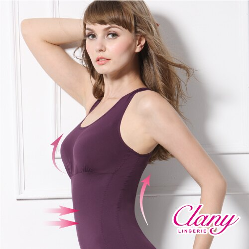 【可蘭霓Clany】Tactel 輕機塑身M-Q(2XL)美體衣 華麗紫 1929-93 0