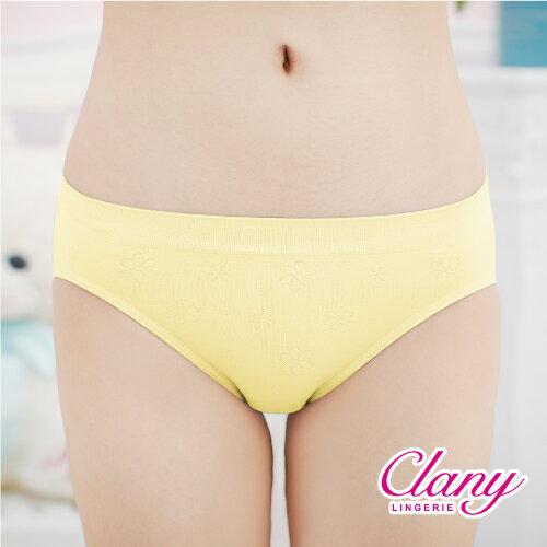 【可蘭霓Clany】繽紛馬卡Tactel 無縫M-XL低腰褲 初暮黃 2120-71 0