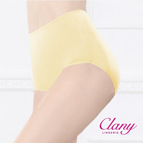 【可蘭霓Clany】天然健康絲蛋白M-2XL高腰褲 初暮黃 2159-71 0