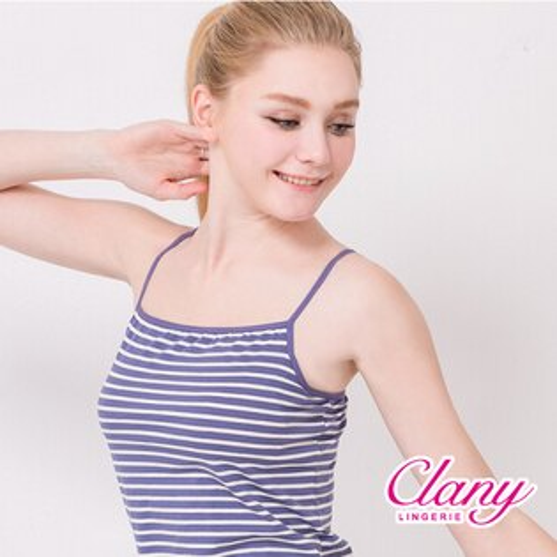 【可蘭霓Clany】涼感Bra-Top M-XL細肩背心 含蓄藍 6388-52