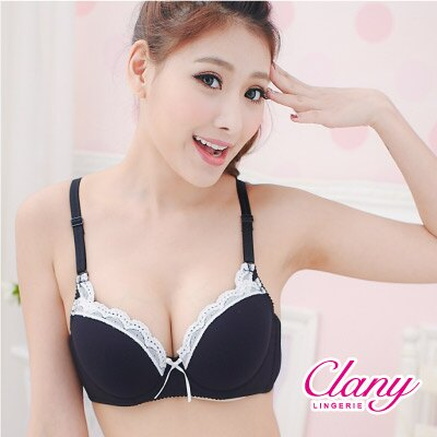 【可蘭霓Clany】可愛蕾絲涼感BC內衣 低調灰 6615-61 1