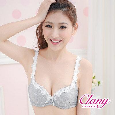 【可蘭霓Clany】健康竹炭氣質小花美肩BC內衣 高雅粉 6639-32 1
