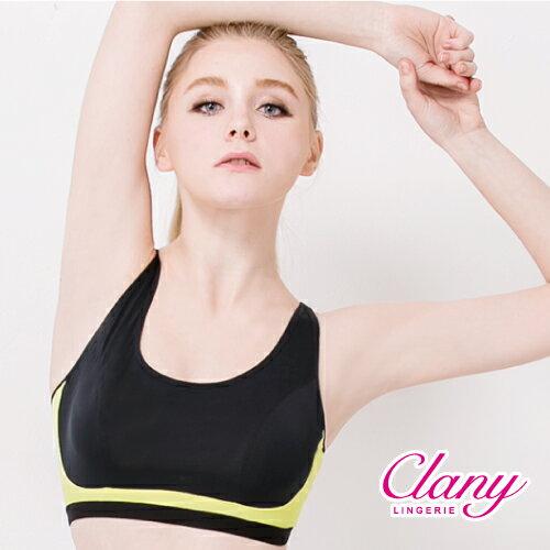 【可蘭霓Clany】沁涼輕舒無鋼調節M-XL胸衣 神秘黑 6679-63 1