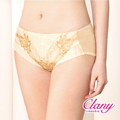 【可蘭霓Clany】華麗雙色蕾絲M-XL內褲(初暮黃 5907-71) - 限時優惠好康折扣
