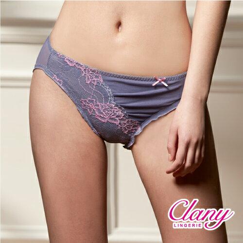 【可蘭霓Clany】奢華蕾絲性感抓皺M-XL內褲(低調灰 3996-61) 0