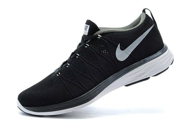 Nike Flyknit Lunar2 運動鞋 休閒鞋 登月6編織飛線慢跑鞋 男鞋網鞋 黑白