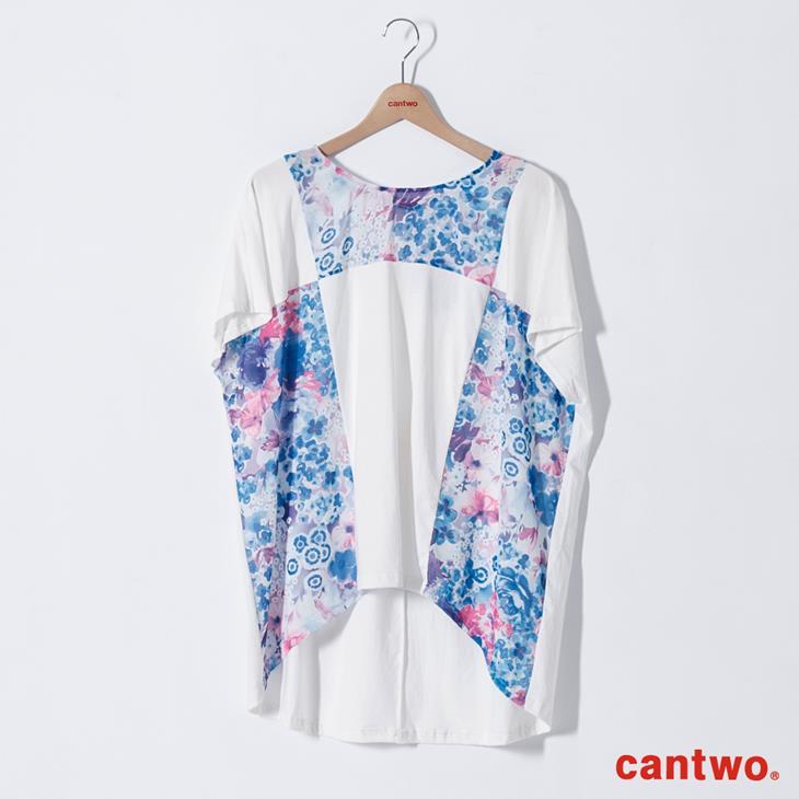 cantwo拼接印花長版T(共二色) 6