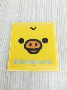 【真愛日本】15120100029小方鏡-小雞大臉  SAN-X 懶熊 奶妹 奶熊 拉拉熊  隨身鏡  鏡子  方鏡