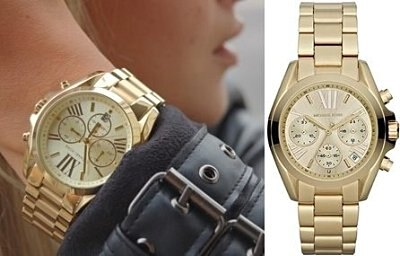 美國Outlet 正品代購 MichaelKors MK 金色熱吻巴黎三環計時手錶腕錶 MK5798 5
