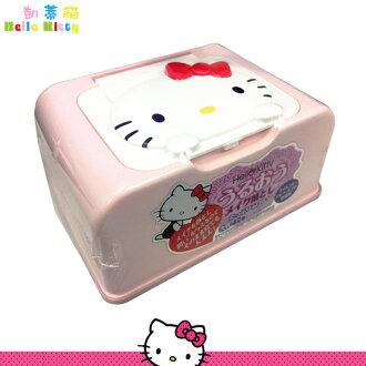 大田倉 日本進口正版Hello Kitty濕紙巾盒 凱蒂貓 三麗鷗 美妝濕紙巾 043434