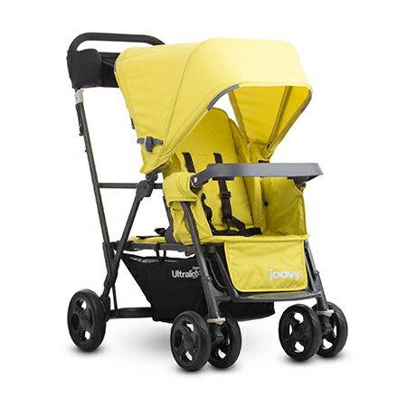 【贈野餐墊(市價$1500)】 美國【Joovy】 Caboose 新款輕量級雙人推車-4色 4