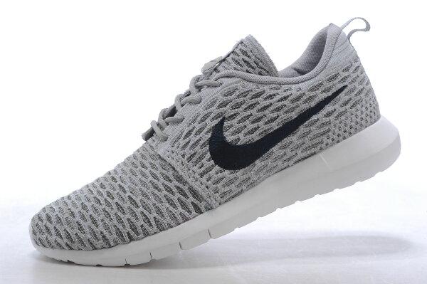 Nike Roshe Run Flyknit 倫敦編織飛線 慢跑鞋 運動鞋 男鞋 淺炭灰