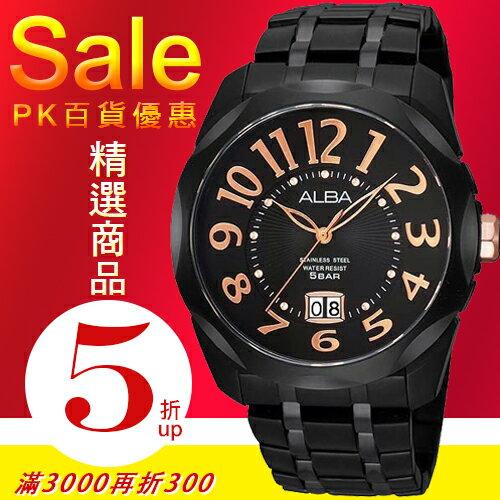 ALBA彭于晏代言王者至尊情人限定腕錶-40mm/黑-台灣限定300支VJ76-X017K/AQ5059X