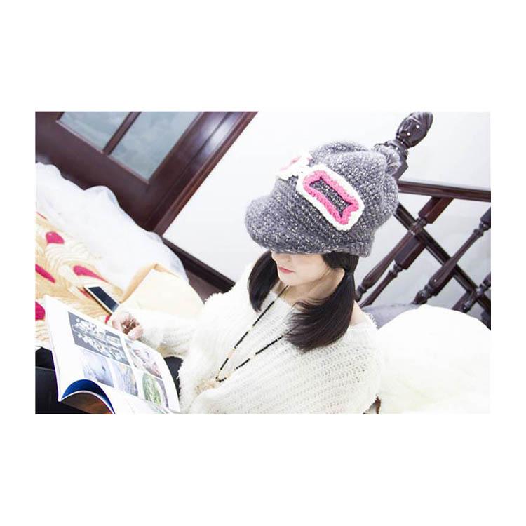 毛帽 鏡框裝飾貝雷帽鴨舌帽毛帽【QI1311】 BOBI  10/13 1