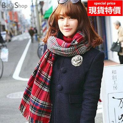 (現貨販售)新款優質圍巾 雙面針織千鳥格加厚保暖披肩圍巾圍脖 A860系列【寶來小舖 BOLAI SHOP 】