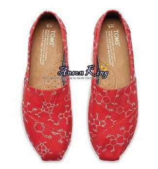 [女款] 國外代購TOMS 帆布鞋/懶人鞋/休閒鞋/至尊鞋 帆布系列 化學元素 紅 2