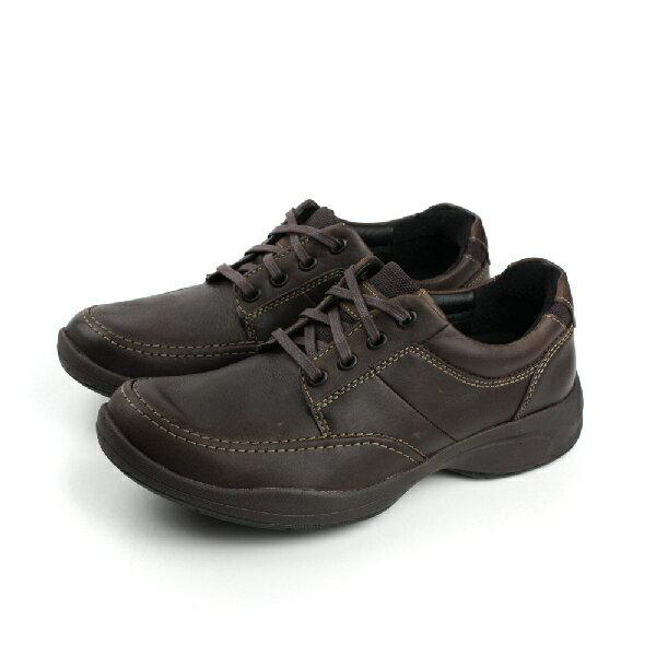 Clarks Wavekorey Mix 皮革 舒適 氣墊 抗震 紳士 戶外休閒鞋 深咖 男款 no706