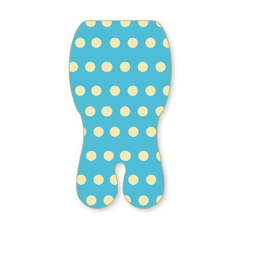 ★衛立兒生活館★Baby Seater 嬰兒專用涼感墊推車涼墊(藍色點點)+日本專利保冰袋