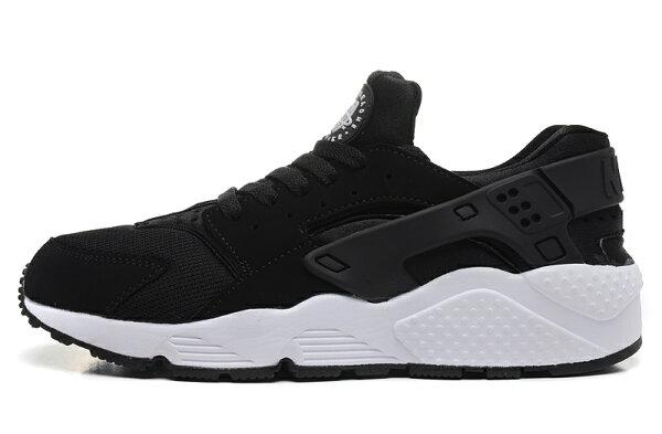 Nike Air Huarache 黑白武士 男女情侶鞋 慢跑鞋 運動鞋