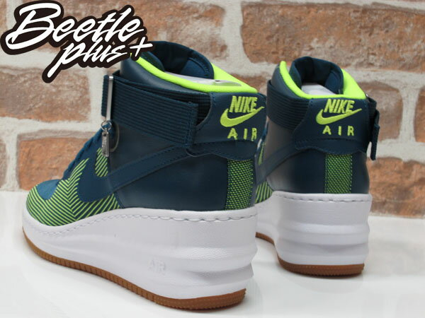BEETLE PLUS WMNS NIKE LUNAR FORCE 1 SKY HI JCRD 藍綠 世足 內增高 陳泱瑾 654849-400 5.5 6 6.5 7 7.5 8 8.5 9 2