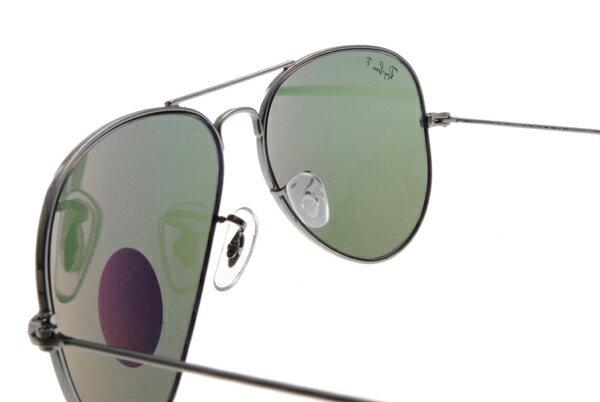 Ray Ban雷朋 槍色銀邊 太陽眼鏡 RB3025 偏光鏡 6