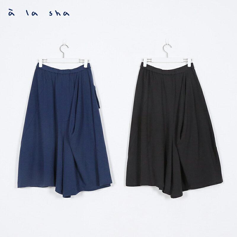 a la sha Qummi 特殊剪裁寬裙褲 3