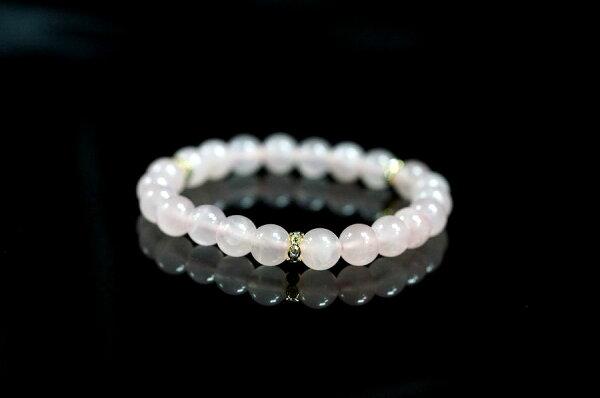 【喨喨飾品】粉晶手鍊8mm 粉紅又微微透明 著名的愛情寶石 A530