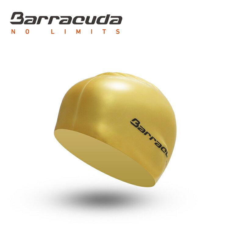 美國巴洛酷達Barracuda成人矽膠泳帽-金 - 限時優惠好康折扣