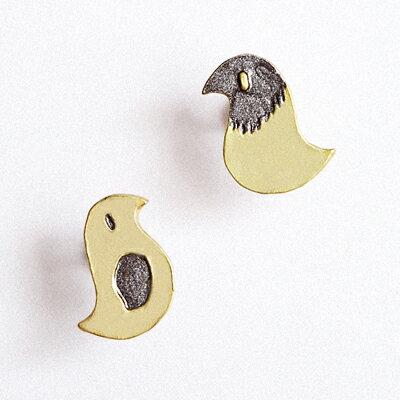 〔APM飾品〕 Palnart poc 遠古時代嗶嗶小雞耳環 ^(抗過敏^) ~  好康折