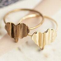 〔APM飾品〕日本Kaza 清脆音韻波浪之心戒指