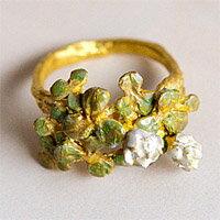 〔APM飾品〕日本Brough Superior白花三葉草純潔祝福戒指