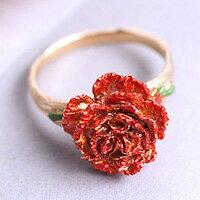母親節禮物推薦〔APM飾品〕日本Brough Superior 溫情暖暖康乃馨戒指