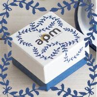 〔APM飾品〕自然色調湛藍歐風禮物盒(小)  (長 x 寬 x 高 = 6.5 x 6.5 x 4.3 cm)  (此為加購品,不可單獨購買)