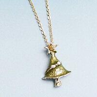 聖誕節禮物推薦〔APM飾品〕日本Luccica 無盡祈願優雅聖誕樹項鍊