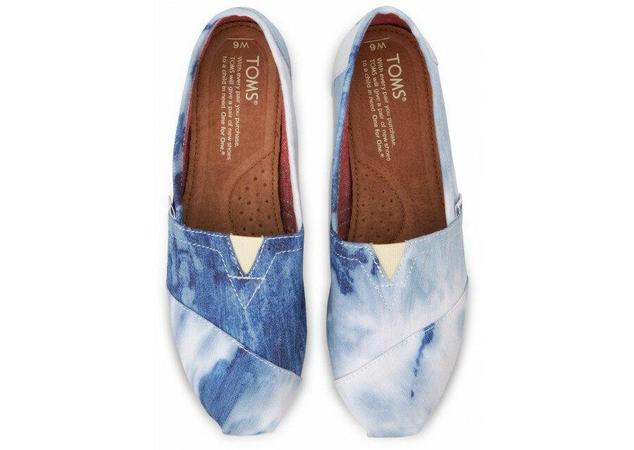 [女款] 國外代購TOMS 帆布鞋/懶人鞋/休閒鞋/至尊鞋 帆布系列 水洗染布藍 2