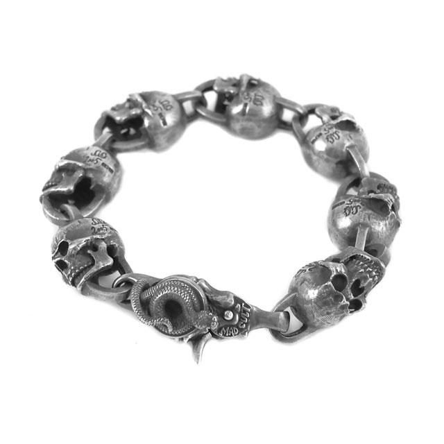 【現貨商品】【MAD CULT】命運毀滅者骷髏純銀手環 M (MAD-B-05-M  0788450000) 1